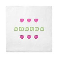 Amanda Cross Stitch Queen Duvet