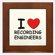 I love recording engineers Framed Tile