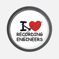 I love recording engineers Wall Clock