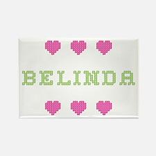 Belinda Cross Stitch Rectangle Magnet