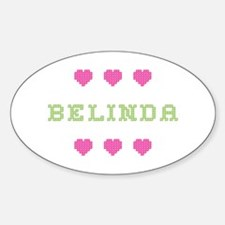 Belinda Cross Stitch Oval Decal