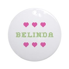 Belinda Cross Stitch Round Ornament