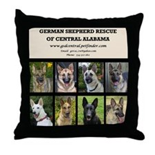 Cool Rescued gsd Throw Pillow