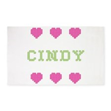 Cindy Cross Stitch 3 'x 5' Area Rug