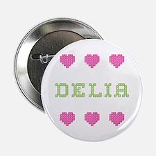 Delia Cross Stitch Button