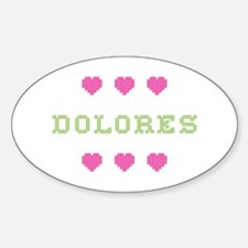 Dolores Cross Stitch Oval Decal