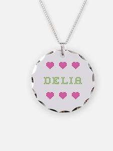 Delia Cross Stitch Necklace
