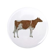 "Guernsey Milk Cow 3.5"" Button"