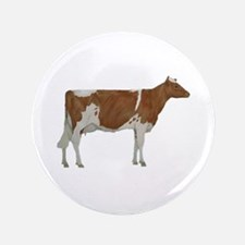 "Guernsey Milk Cow 3.5"" Button"