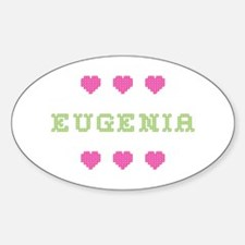 Eugenia Cross Stitch Oval Decal