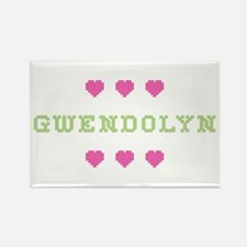 Gwendolyn Cross Stitch Rectangle Magnet