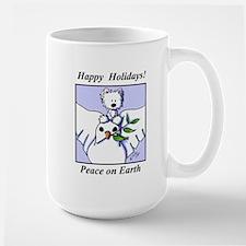 Westie Dove Holiday Mug