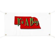 Its A Boy Nebraska Banner