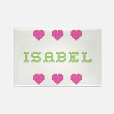 Isabel Cross Stitch Rectangle Magnet
