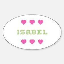 Isabel Cross Stitch Oval Decal