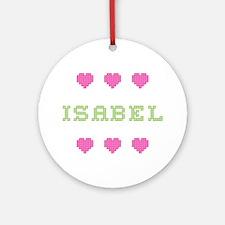 Isabel Cross Stitch Round Ornament