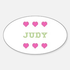 Judy Cross Stitch Oval Decal