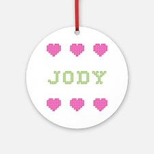 Jody Cross Stitch Round Ornament