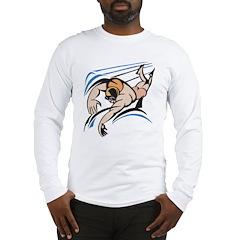Abstract Swimming Long Sleeve T-Shirt