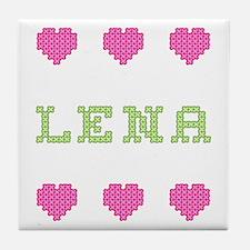 Lena Cross Stitch Tile Coaster