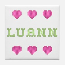 Luann Cross Stitch Tile Coaster