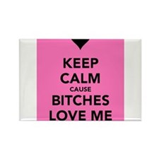 Bitches Love Me Rectangle Magnet (10 pack)