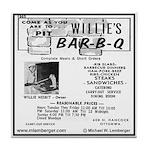 Willie's Bar-B-Q Tile Coaster