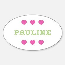 Pauline Cross Stitch Oval Decal