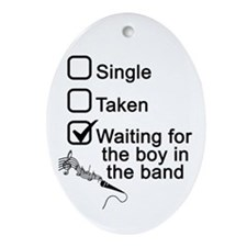 Waiting for boy in band Ornament (Oval)