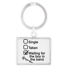 Waiting for boy in band Keychains