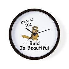 """""""Beaver 101: Bald Is Beautiful"""" Wall Clock"""