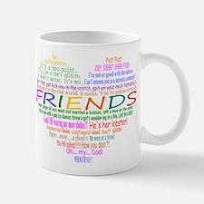 FriendsTVQuotesHeart Mugs