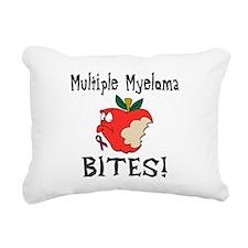 Multiple Myeloma Bites Rectangular Canvas Pillow