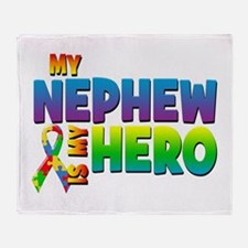My Nephew Is My Hero Throw Blanket