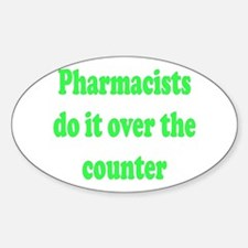 Over the Counter Oval Decal