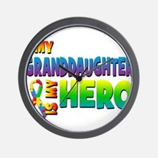 My Granddaughter Is My Hero Wall Clock
