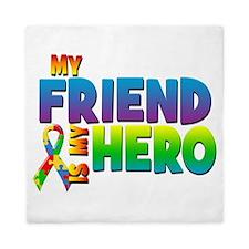 My Friend Is My Hero Queen Duvet