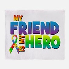 My Friend Is My Hero Throw Blanket