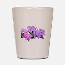 Purple azalea flowers Shot Glass