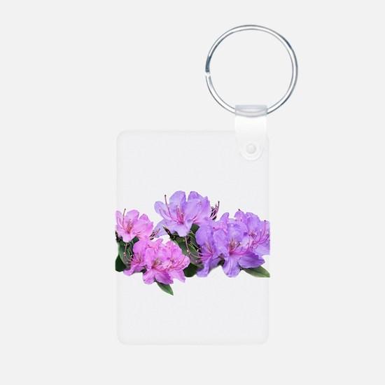 Purple azalea flowers Keychains