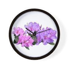 Purple azalea flowers Wall Clock