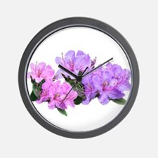 Purple azalea flowers Wall Clock