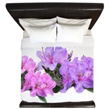 Purple azalea flowers King Duvet