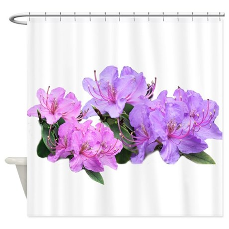 purple azalea flowers shower curtain by epcyphotography