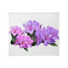 Purple azalea flowers Throw Blanket