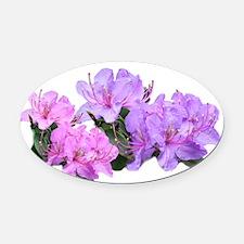 Purple azalea flowers Oval Car Magnet