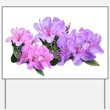 Purple azalea flowers Yard Sign