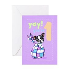 Baby Birthday Age 1 Boston Greeting Card