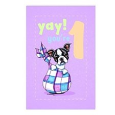 Baby Birthday Age 1 Boston Postcards (Package of 8