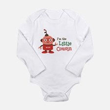 Little Cousin - Retro Robot Long Sleeve Infant Bod